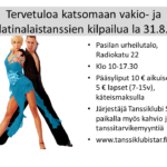 Valtakunnallinen kilpailu 31.8.2019 Pasilan urheilutalolla